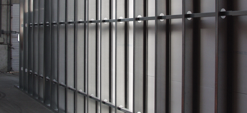 Снимка на противопожарни плоскости Promat използвани в преградни стени