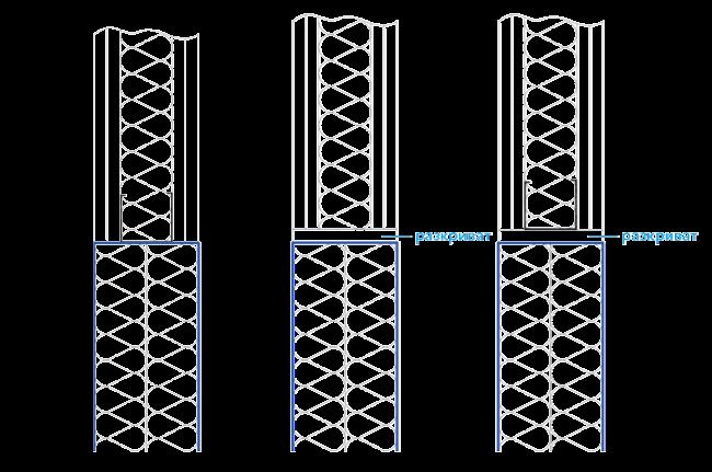 Диаграма на изпълнение на меки преминавания в леки стени