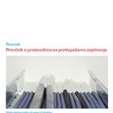 Umanjena slika prikazuje naslovnu stranu Promatovog priručnika za protivpožarno zaptivanje građevinskih objekata.