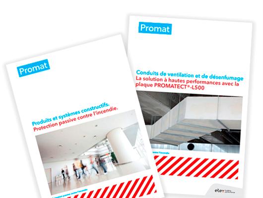 Brožúry o pasívnej prozipožiarnej ochrane a vzduchotechnike vo francúzštine