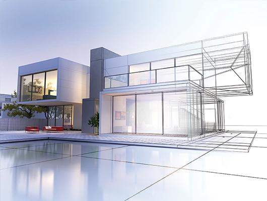 Imagine cu o locuință cu design modern